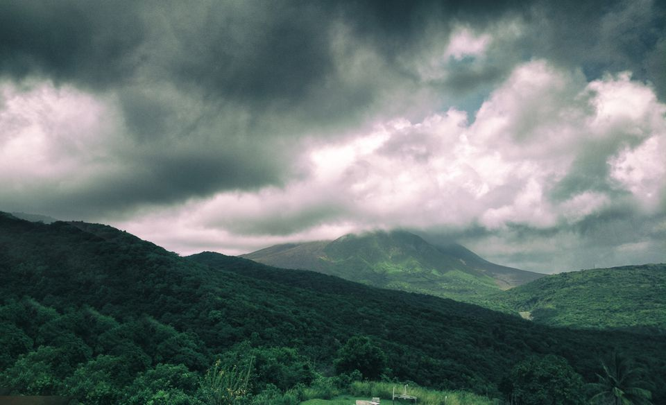 Soufriere Hills volcano in Montserrat