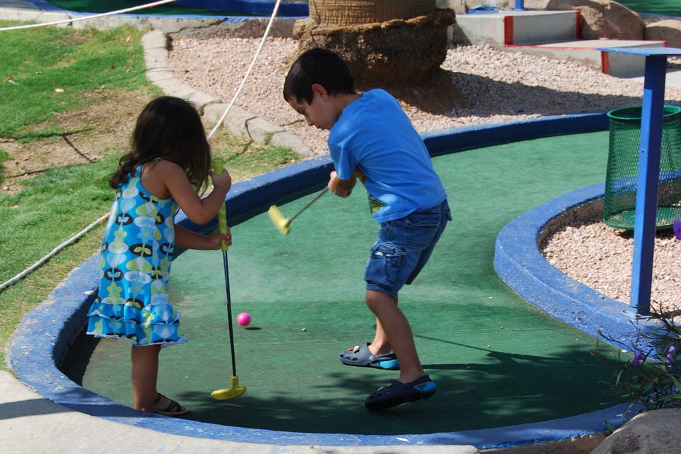 Miniature Golf at CrackerJax, Scottsdale