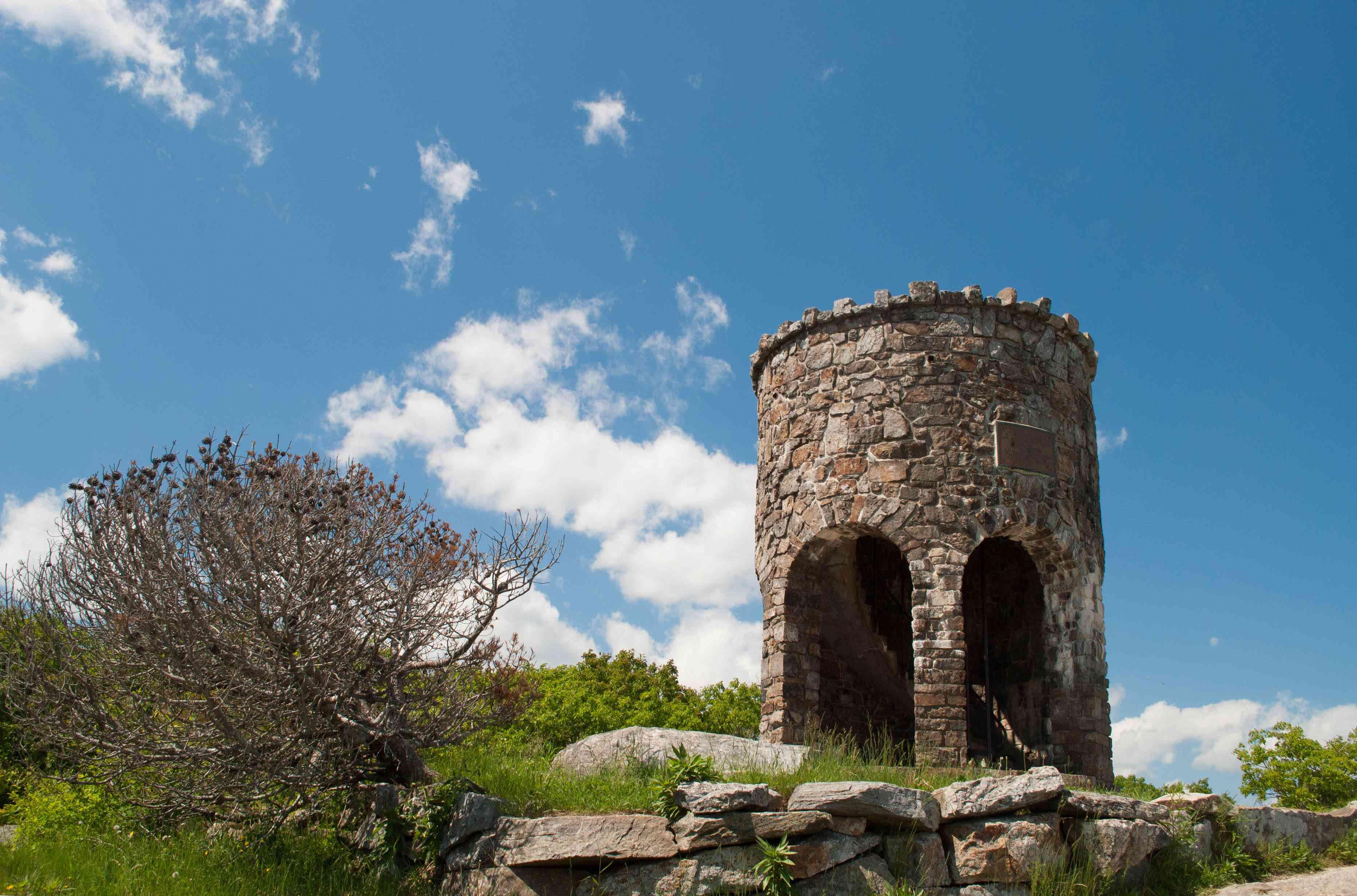 Mount Battie Stone Tower in Camden Hills State Park
