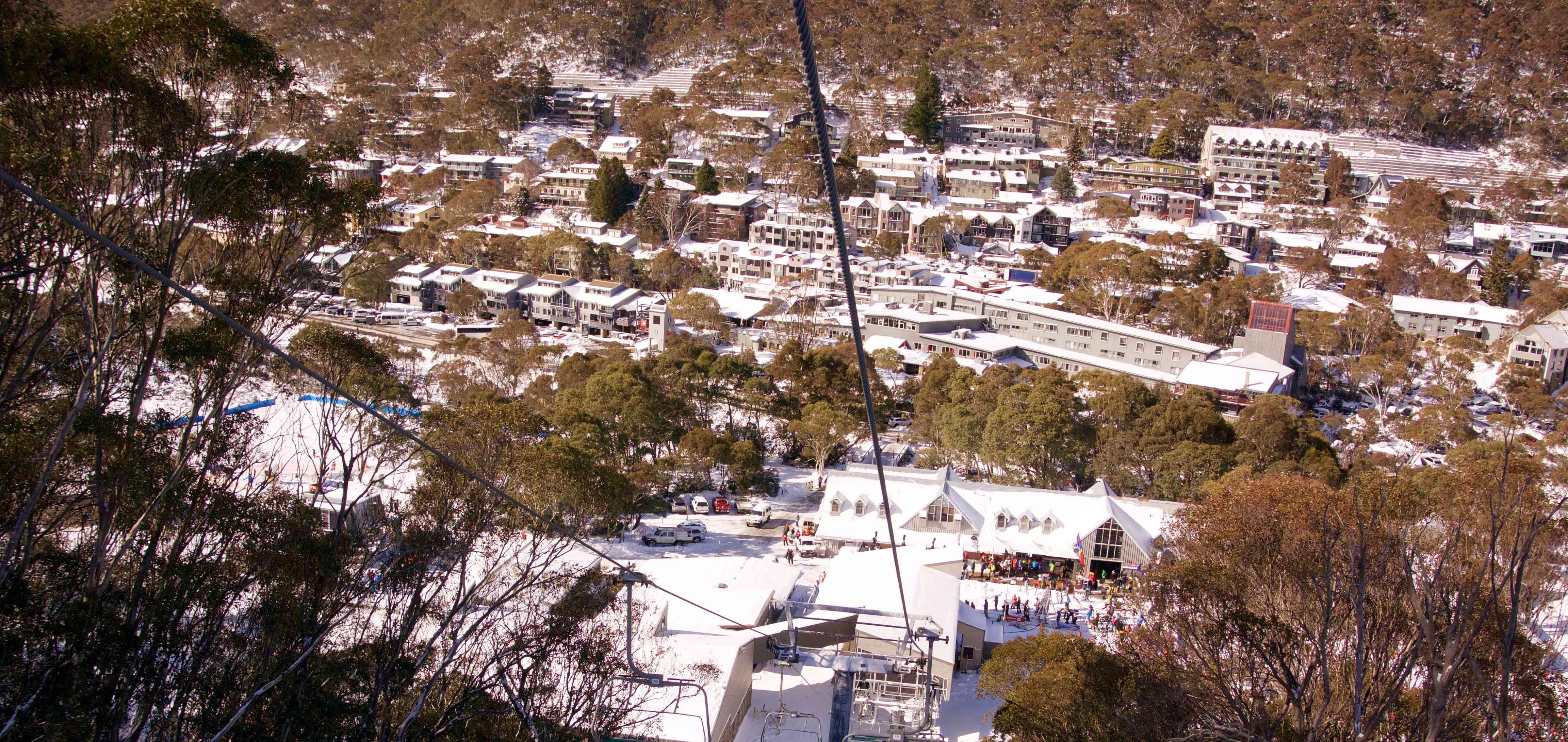 Pueblo Thredbo en nieve