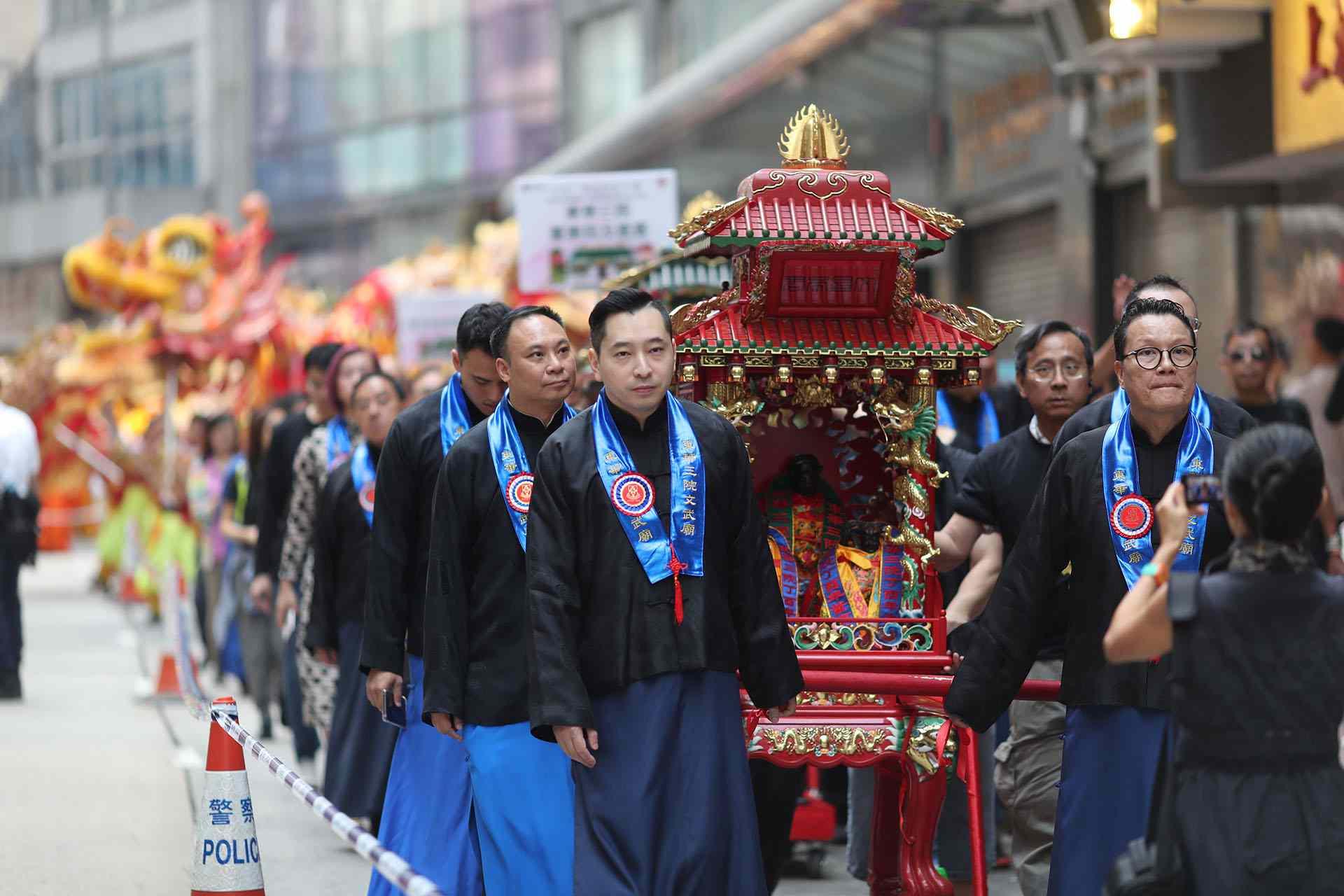 Autumn Sacrificial Rites, Man Mo Temple, Hong Kong