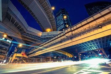 Light Stream Under the Elevated Expressway