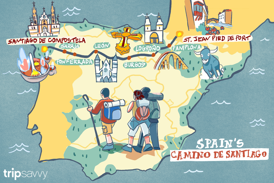 Camino Walk Spain Map.Spain S Camino De Santiago How Long The Trip Takes