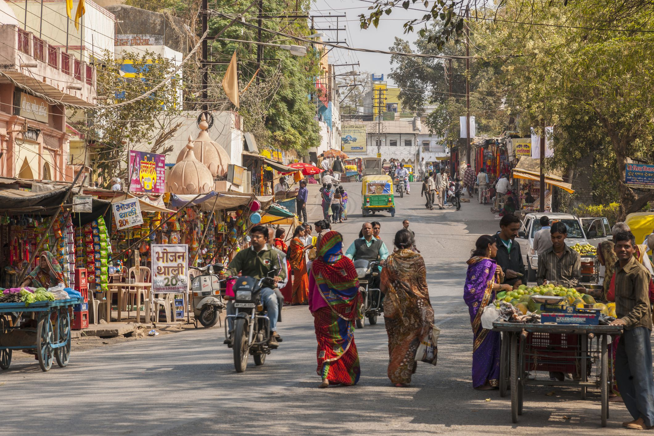Daily life in downtown Ujjain