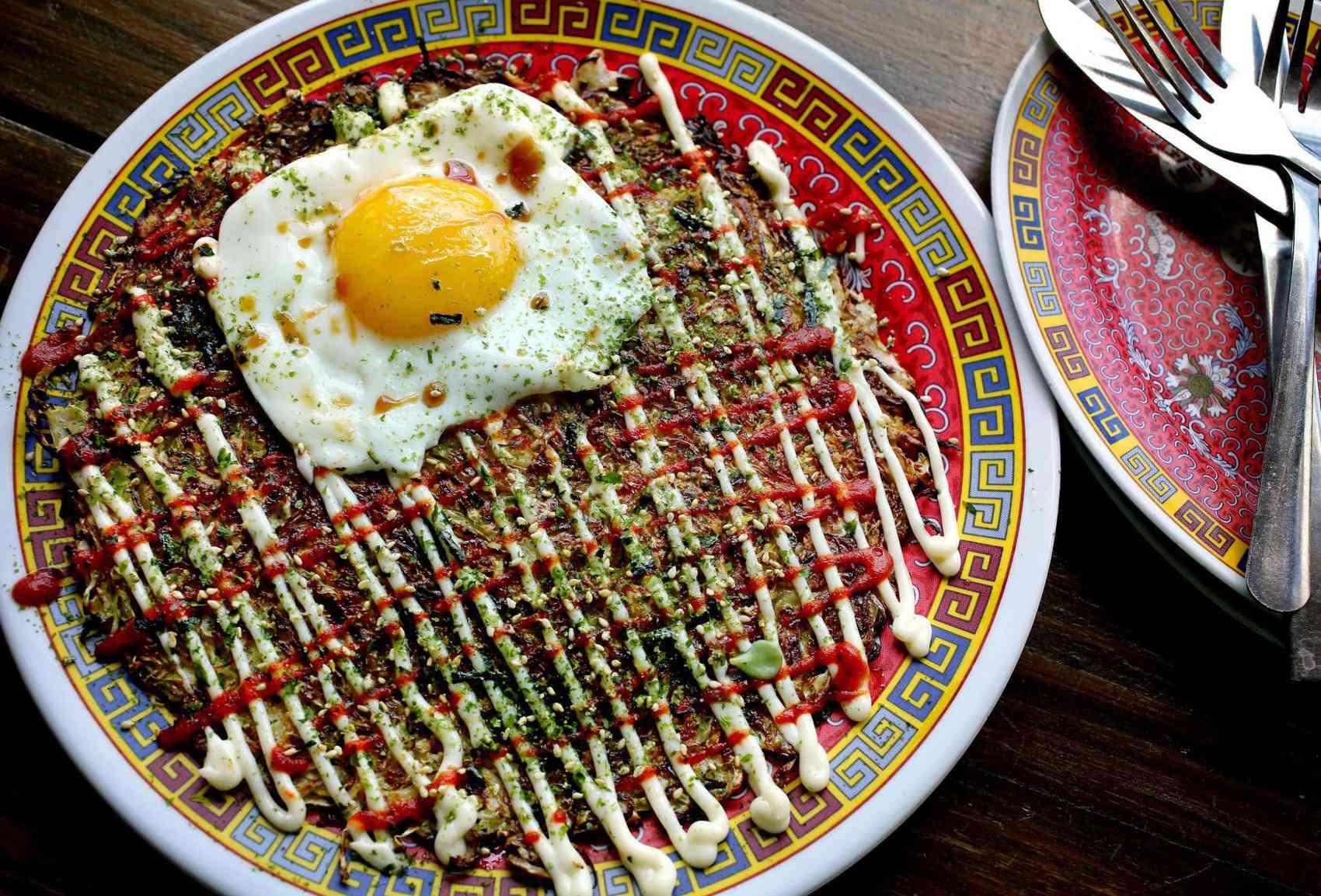 Okonomiyaki at Xiao Bao Biscuit