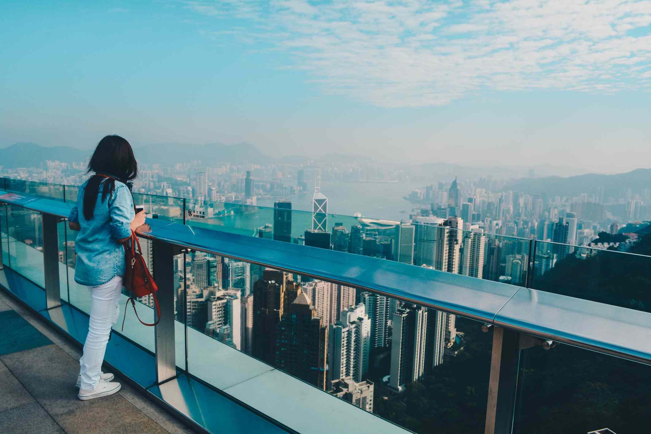 Viewing Hong Kong from Sky Terrace 428