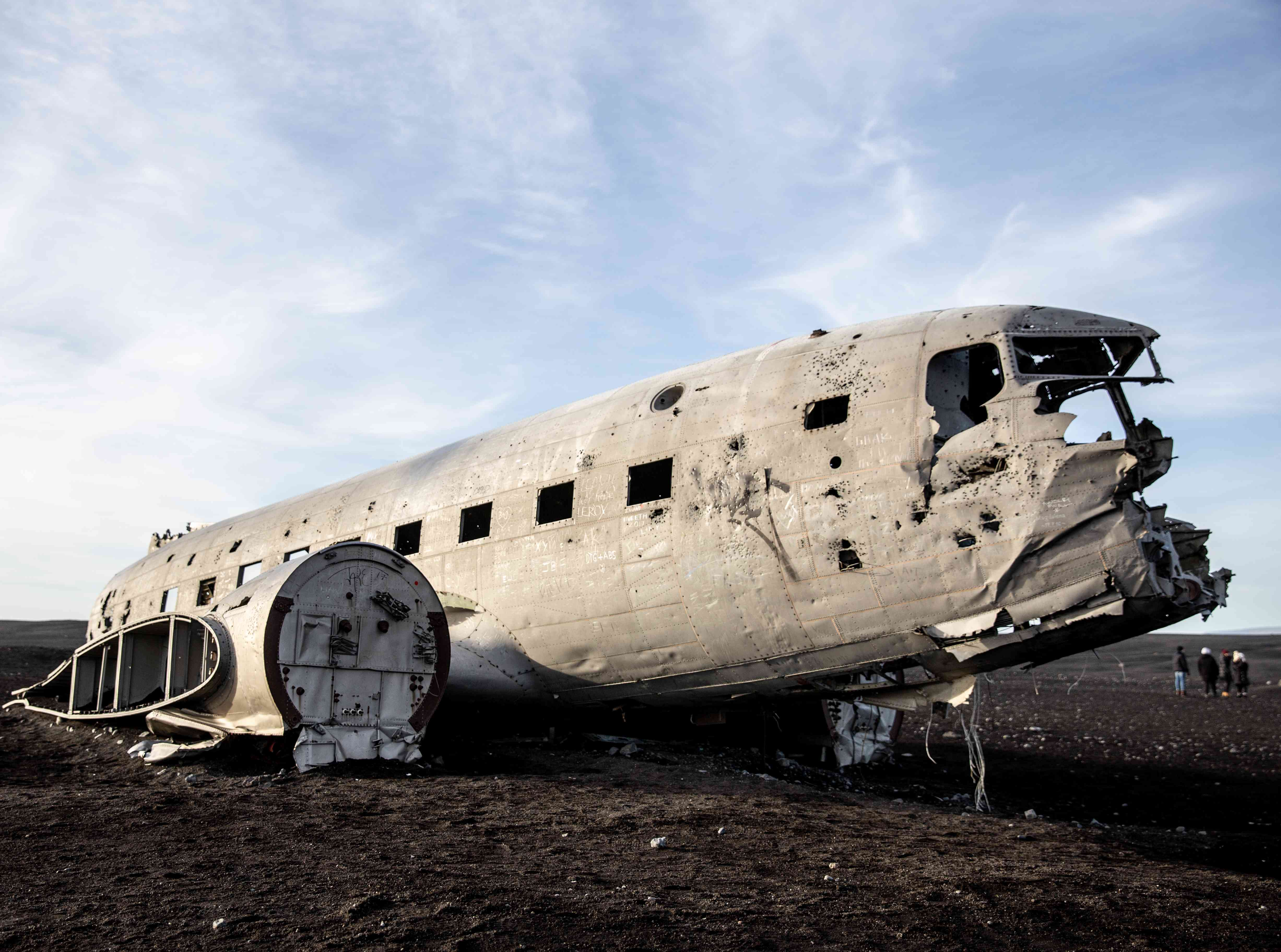 Abandoned plane in Iceland