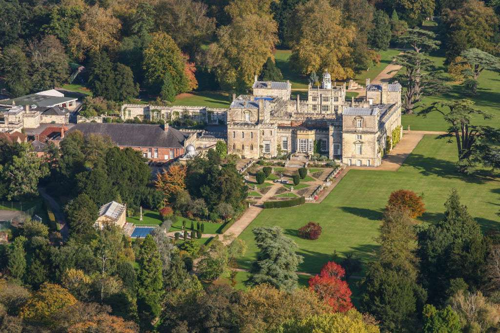 Aerial photograph of Wilton House, Wiltshire