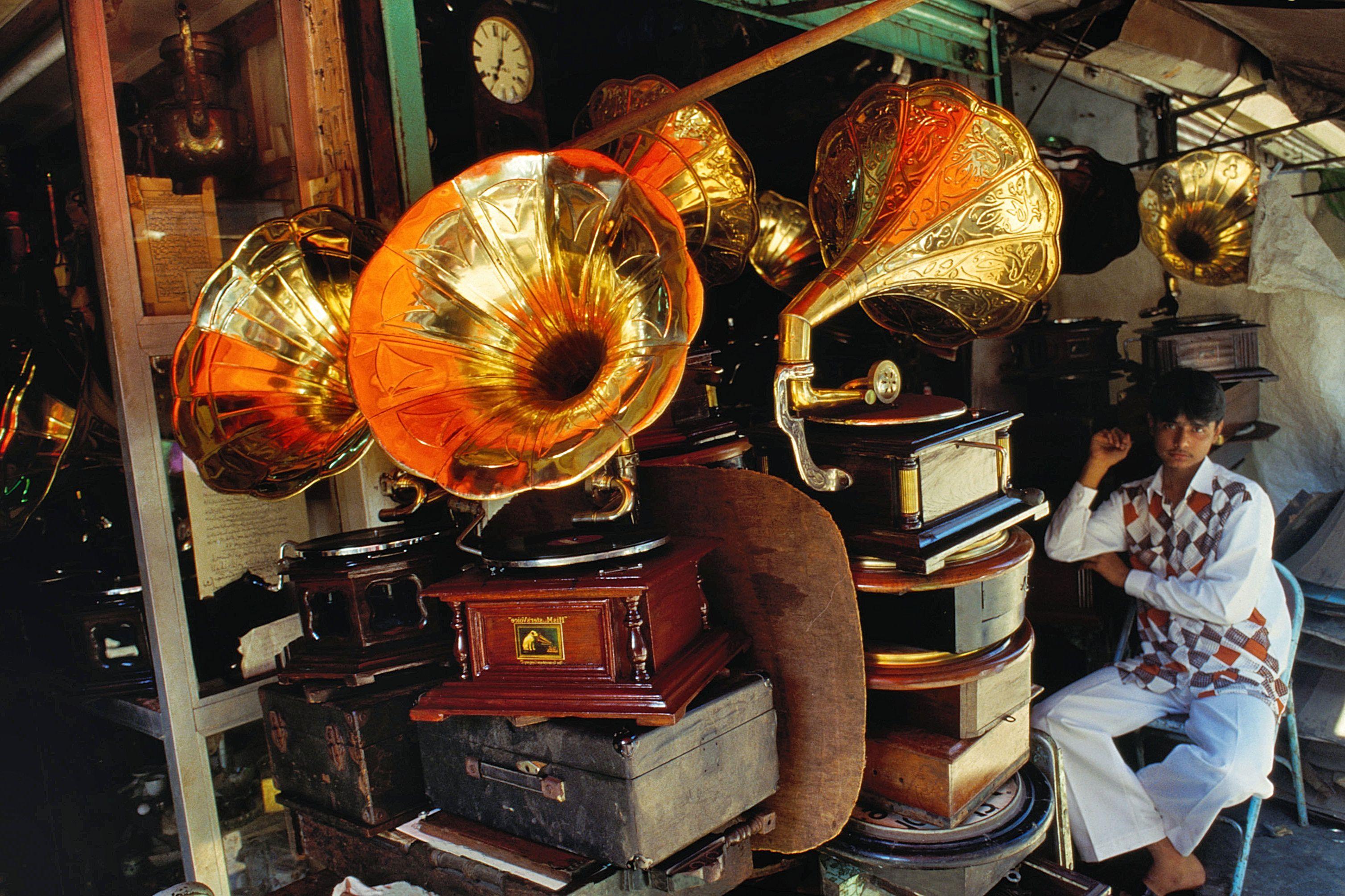 Gramophones at India market