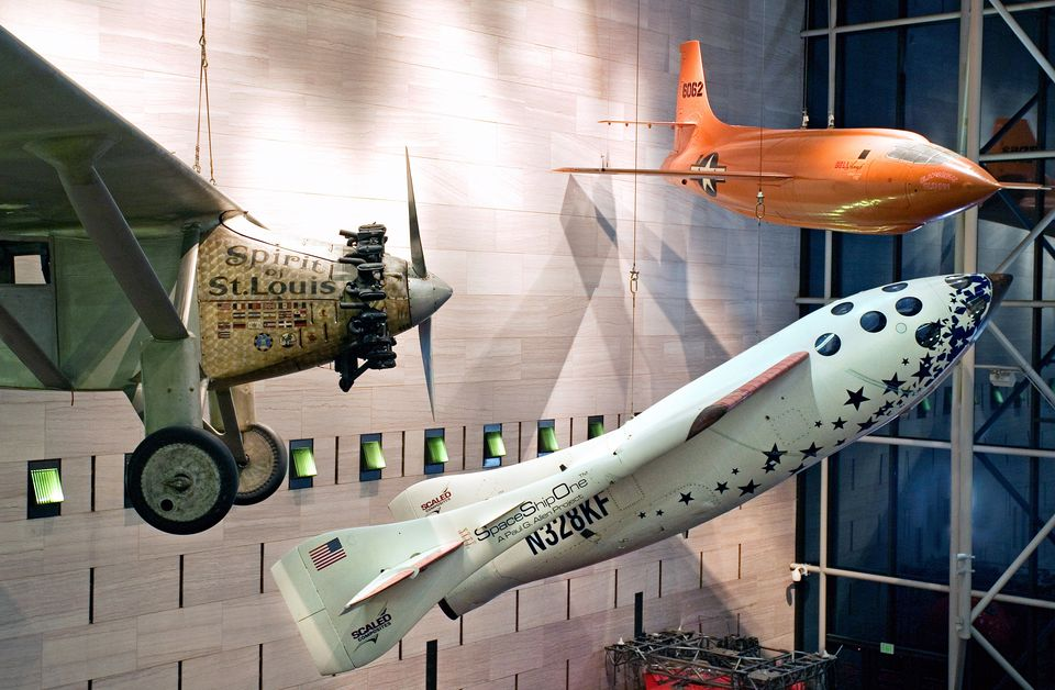 Milestones of Flight exhibit