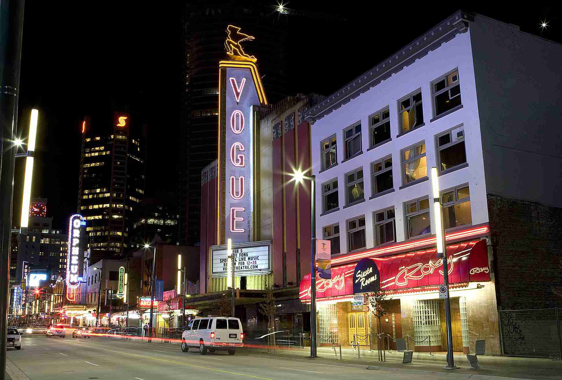 The Granville Strip in downtown Vancouver