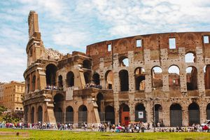 The outside of the Colleseum