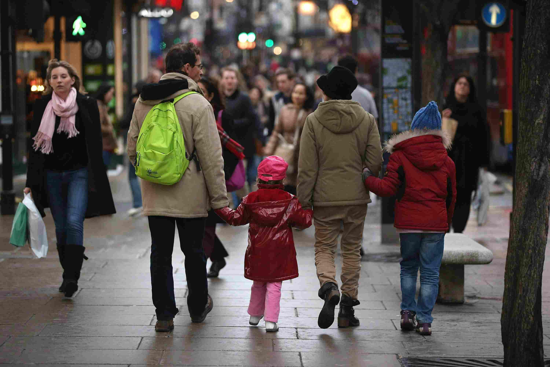 Shoppers on Oxford Street, London