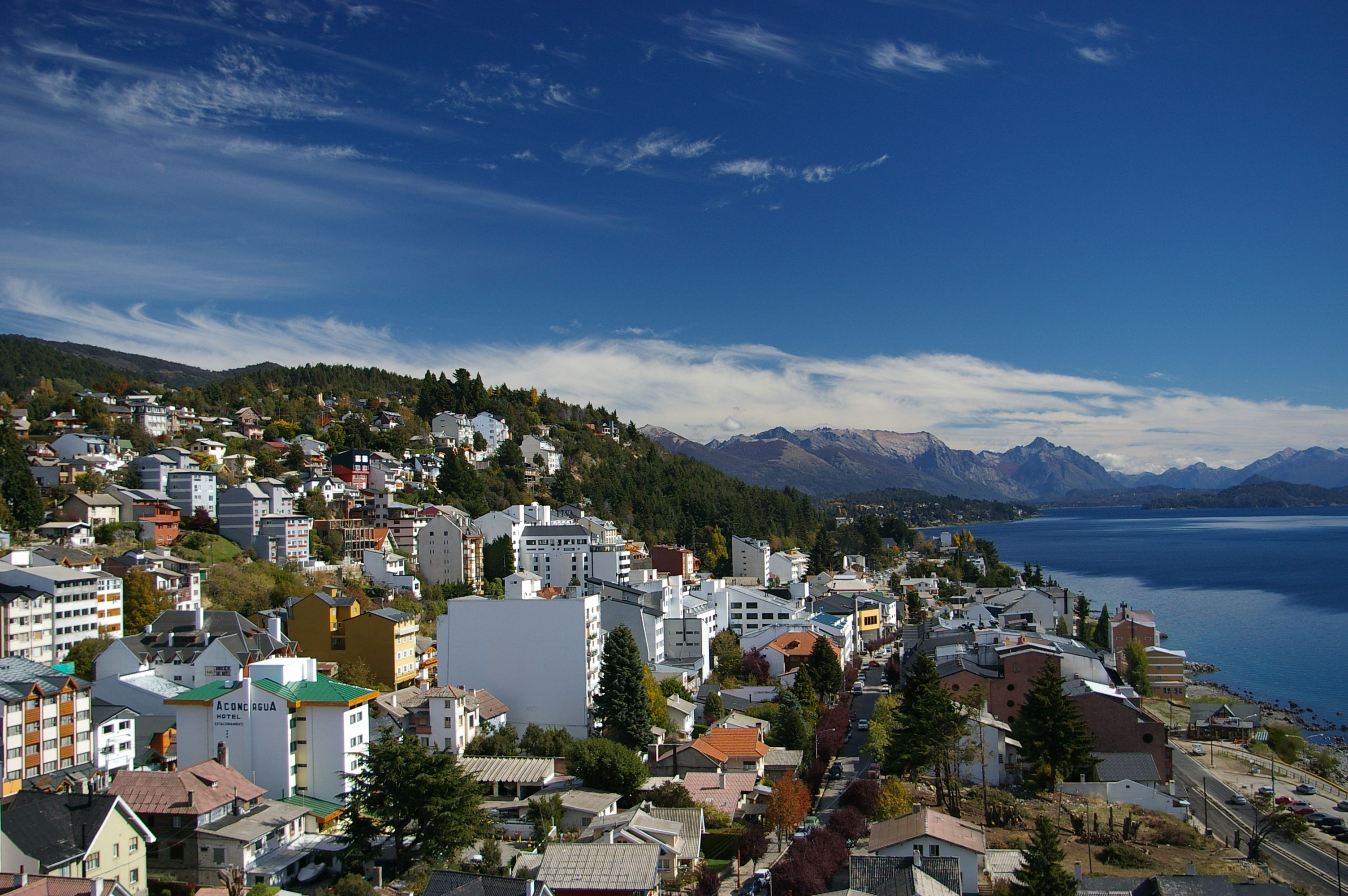 View overlooking the city of Bariloche from above