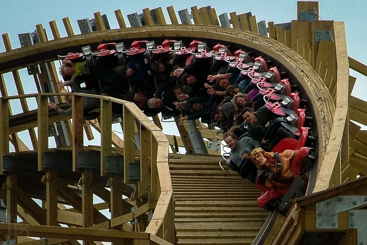 The Cú Chulainn wooden roller-coaster at Tayto Park - Europe's biggest of its kind