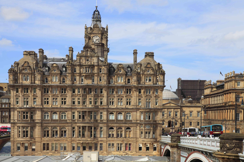 Scotland, Edinburgh, Balmoral Hotel, Waverley Station