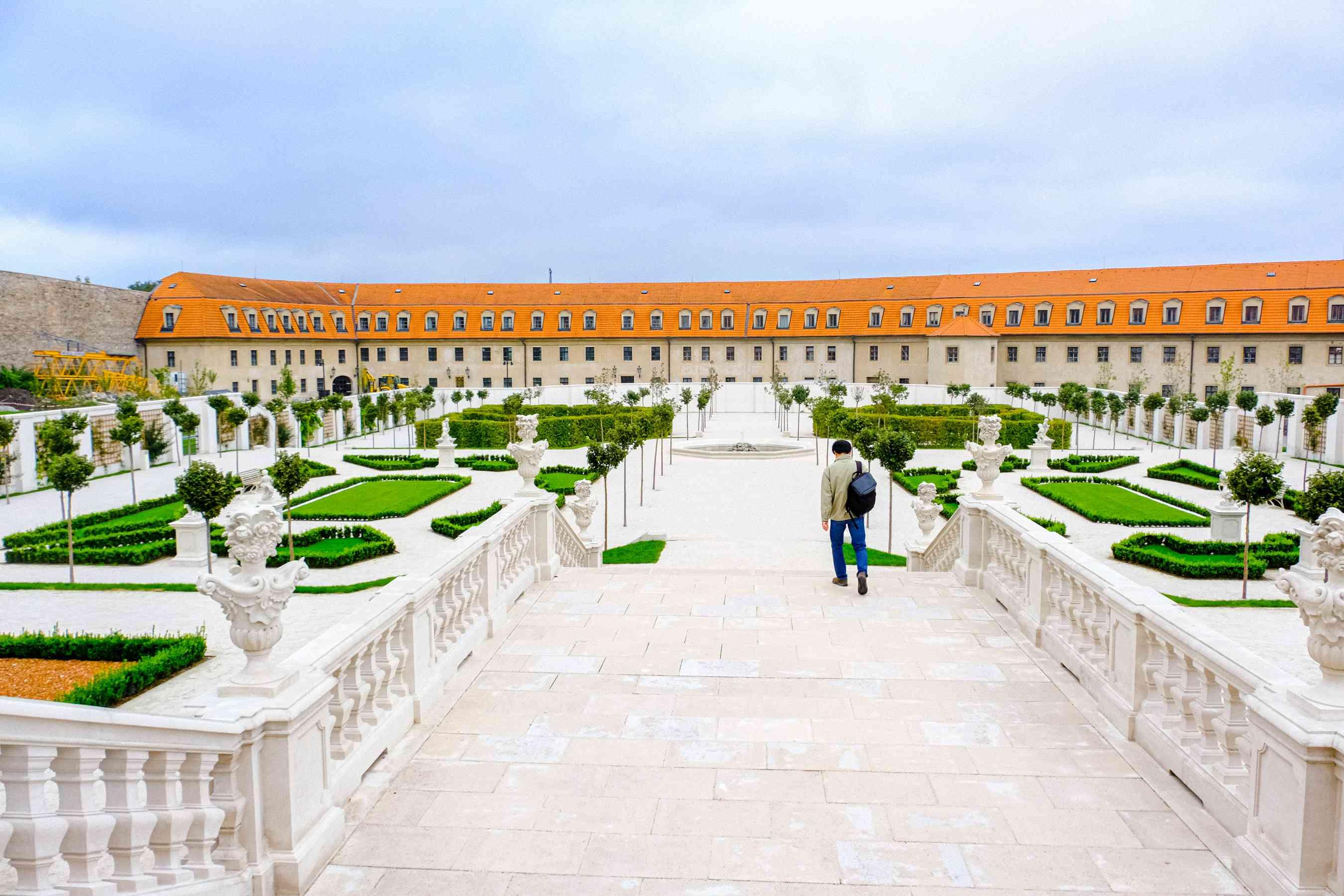 Los jardines a las afueras del castillo de Bratislava