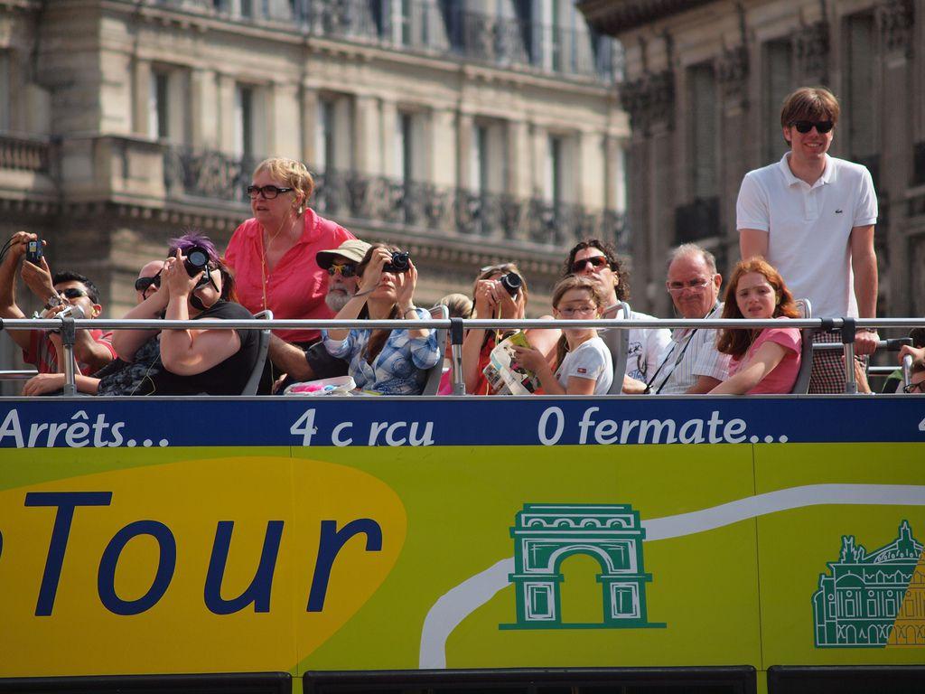 L'Open Tour is a popular hop-on, hop-off bus tour of Paris.