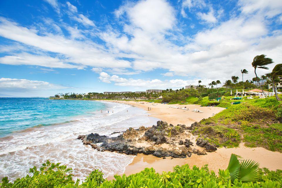 Wailea Beach en la costa suroeste de Maui Hawaii