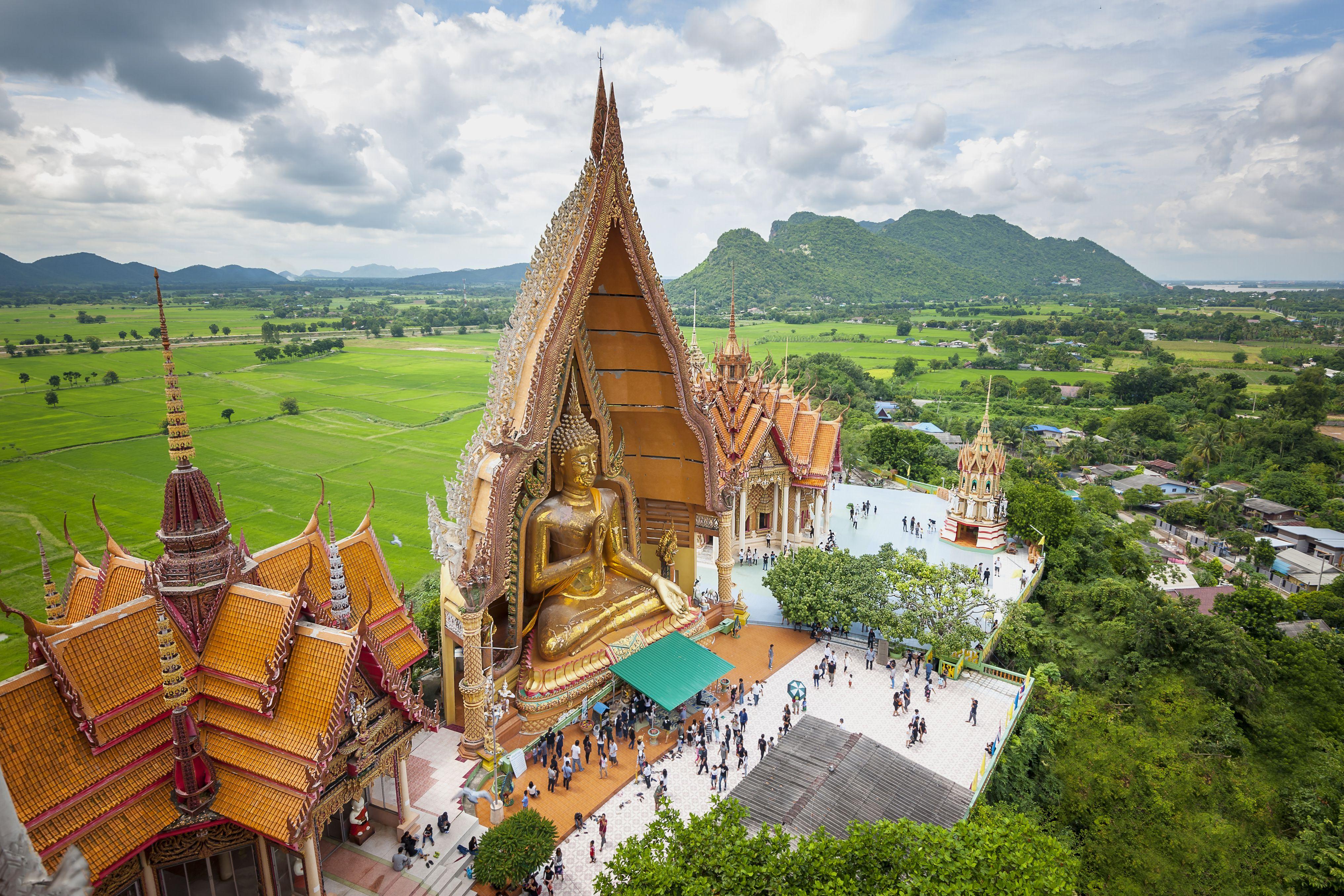 Big Buddha statue at Tiger Cave Temple or Wat Tham Sua