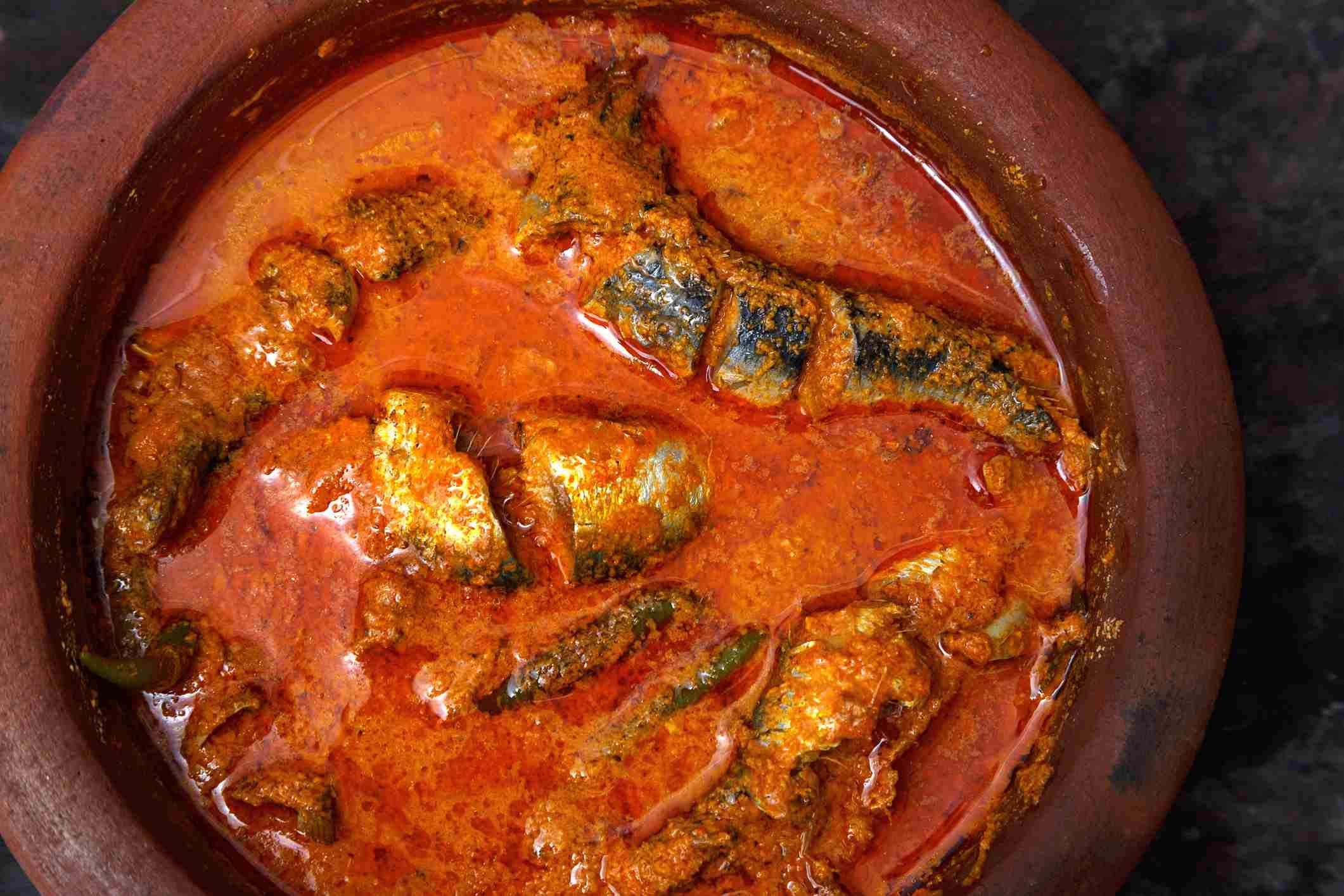 Kerala fish curry.
