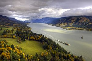 View of the Columbia River in the Pacific Northwest.