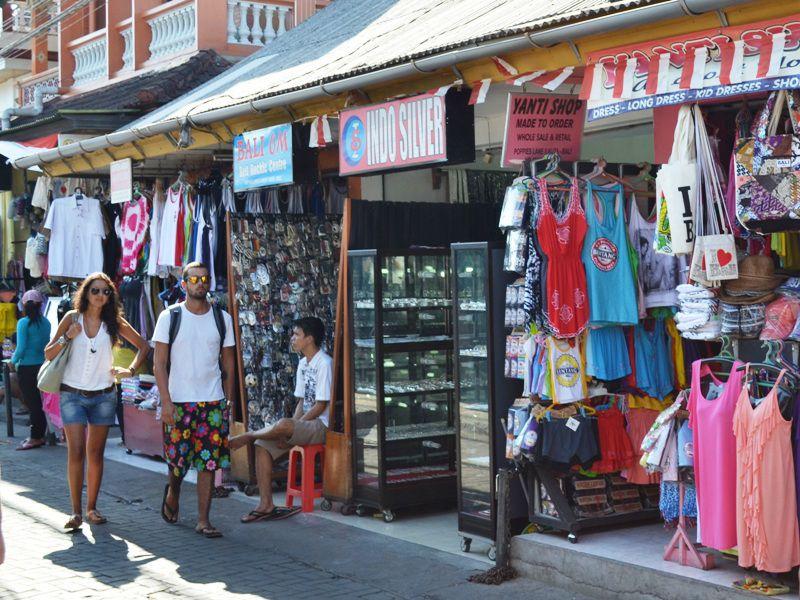 Shoppers in Legian