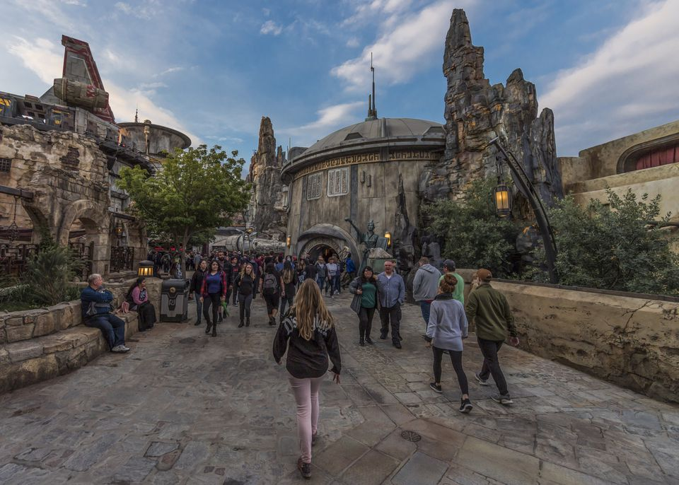 Entrance to Star Wars: Galaxy's Edge at Disneyland