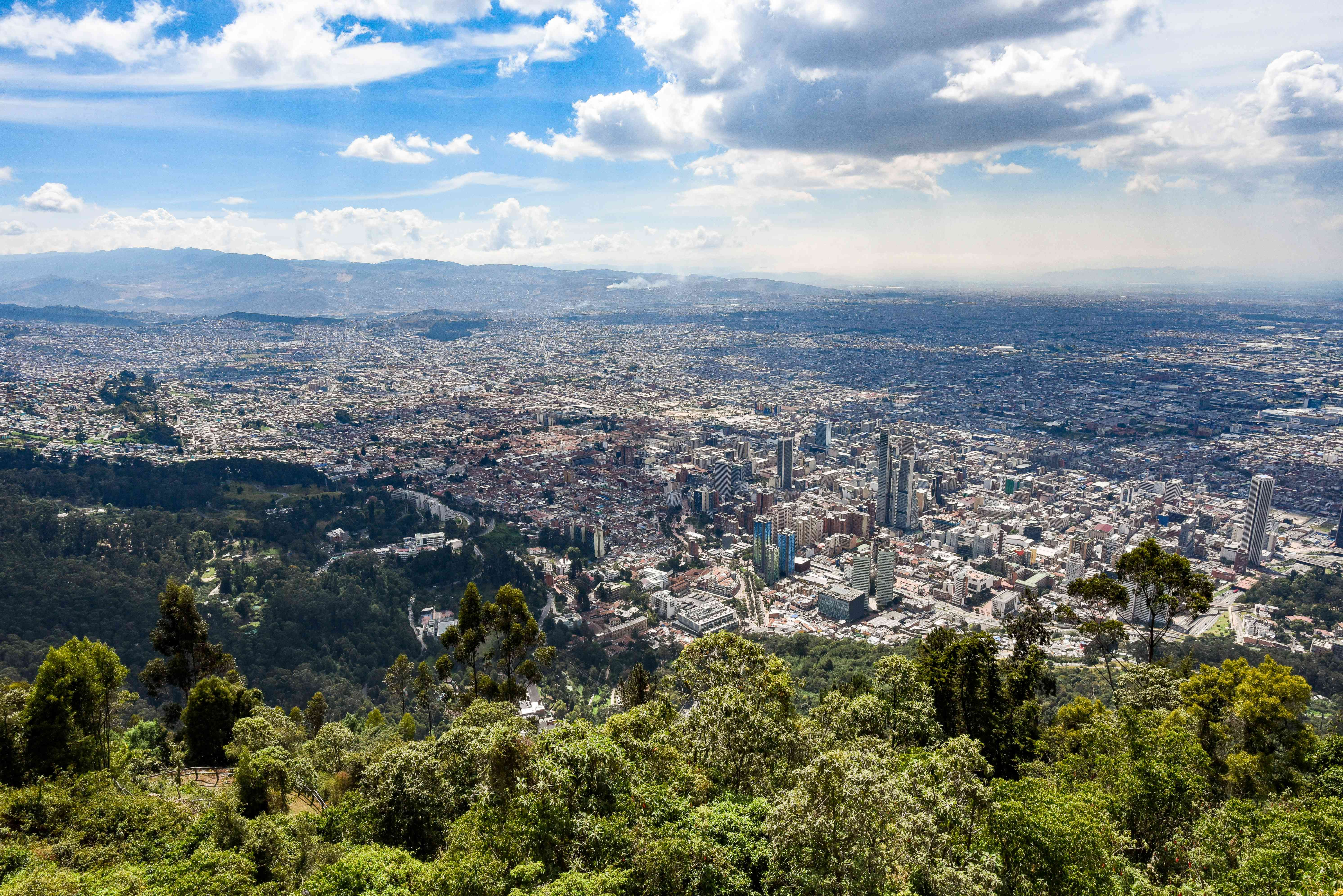 View of Bogota from Monseratte