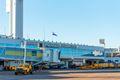 Facade of the international airport building, Asuncion, Paraguay.
