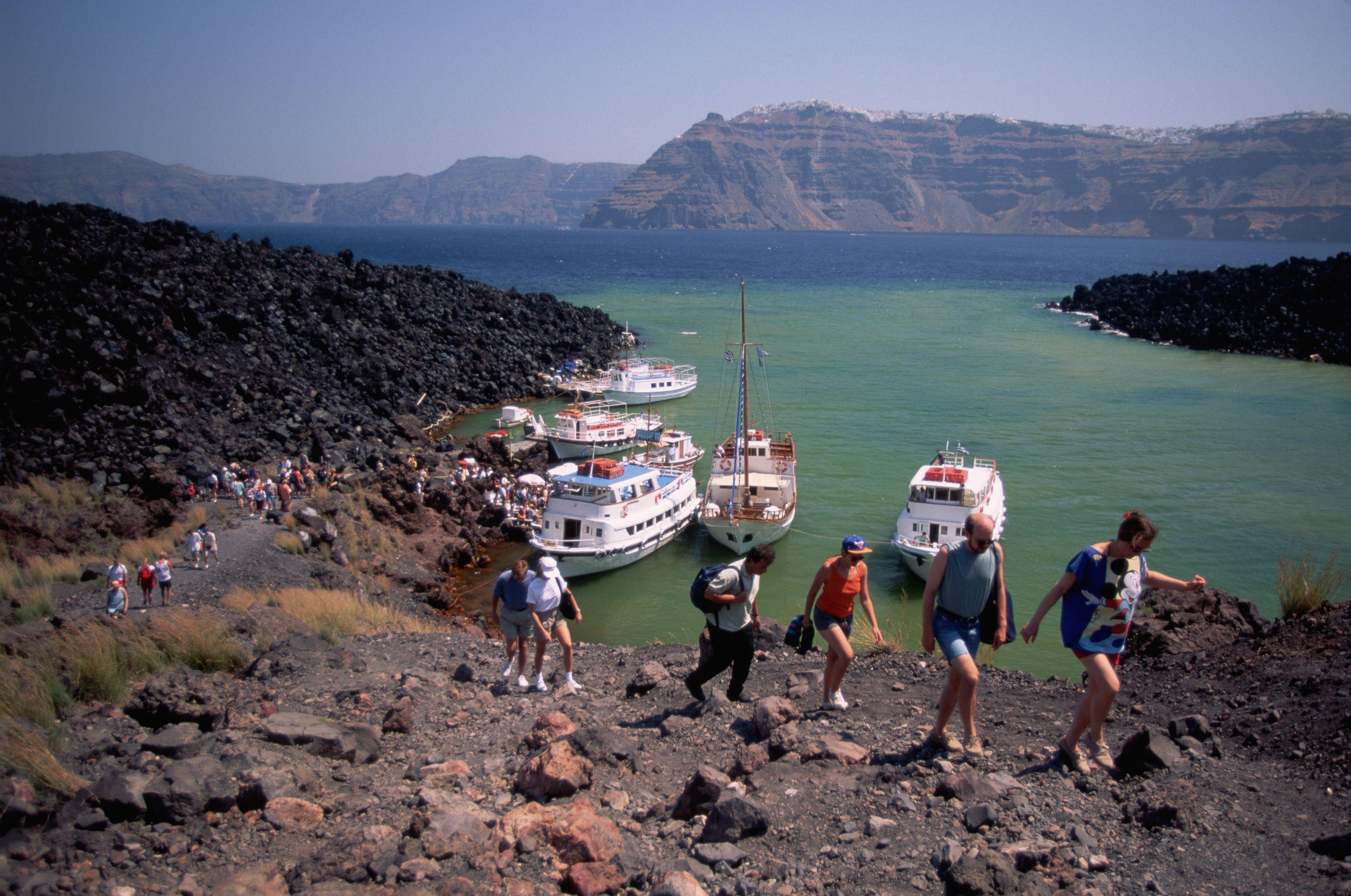 Hiking the Volcanic Island of Nea Kameni