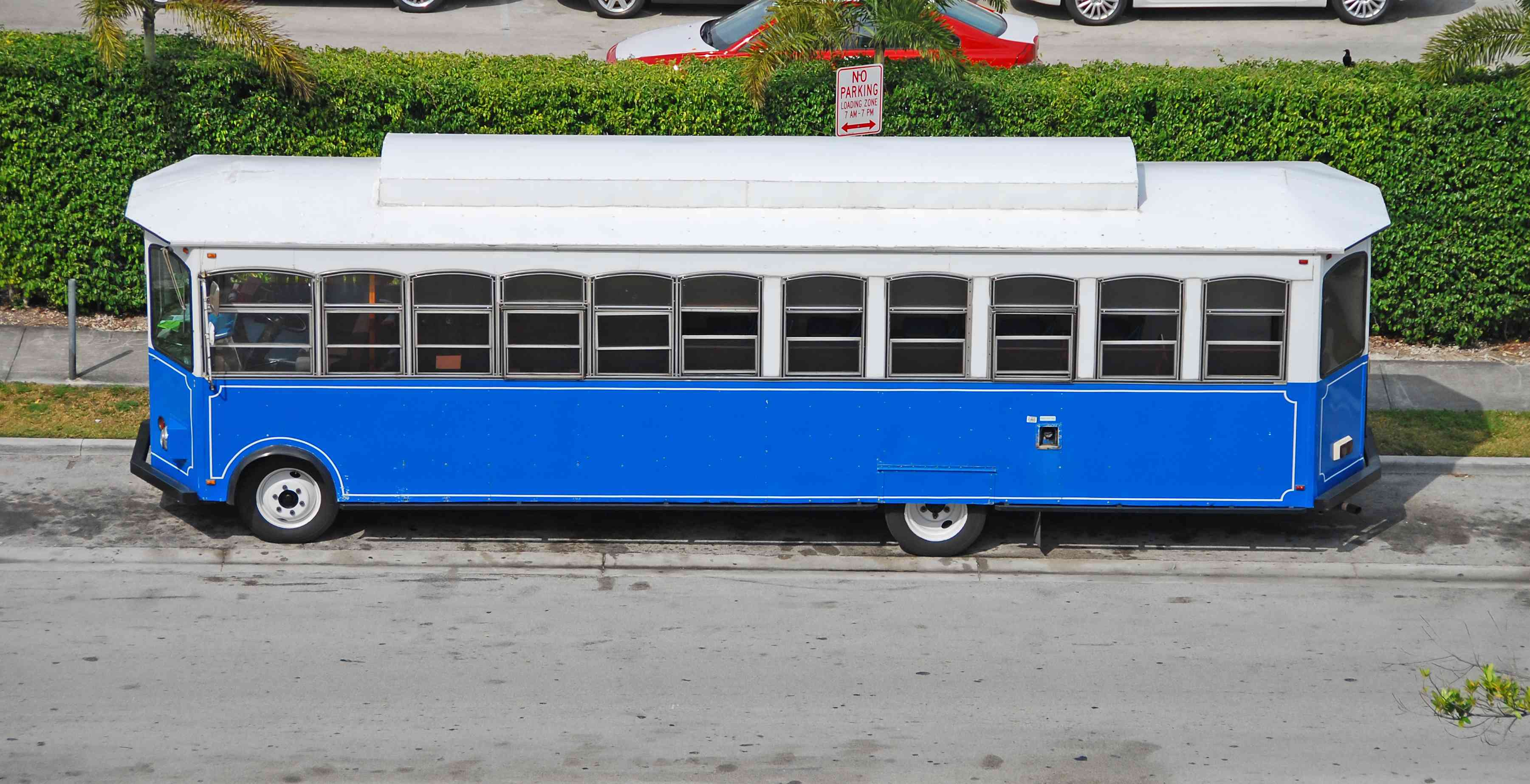 Miami Trolley parked on street