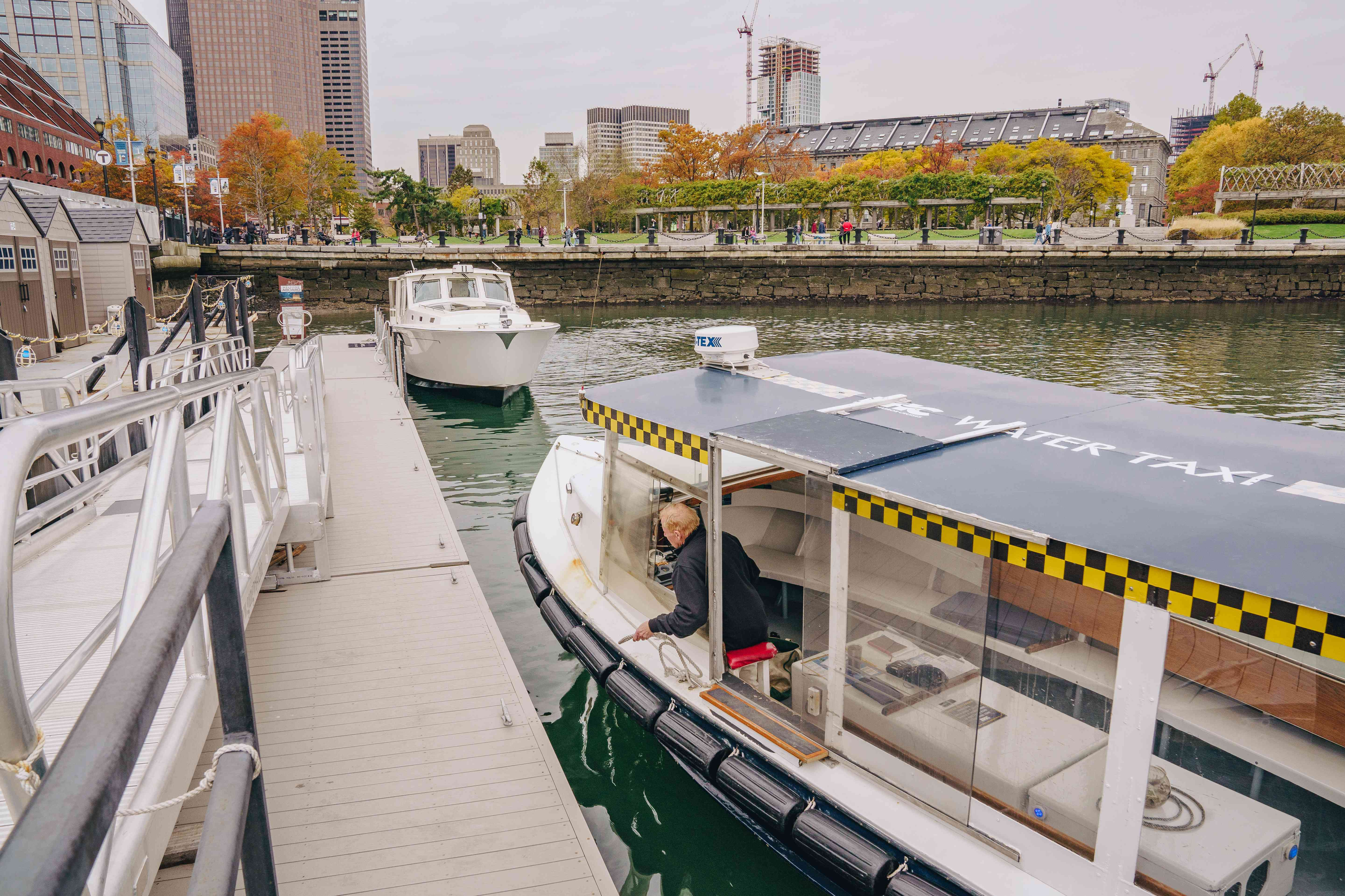 Water taxis in Boston