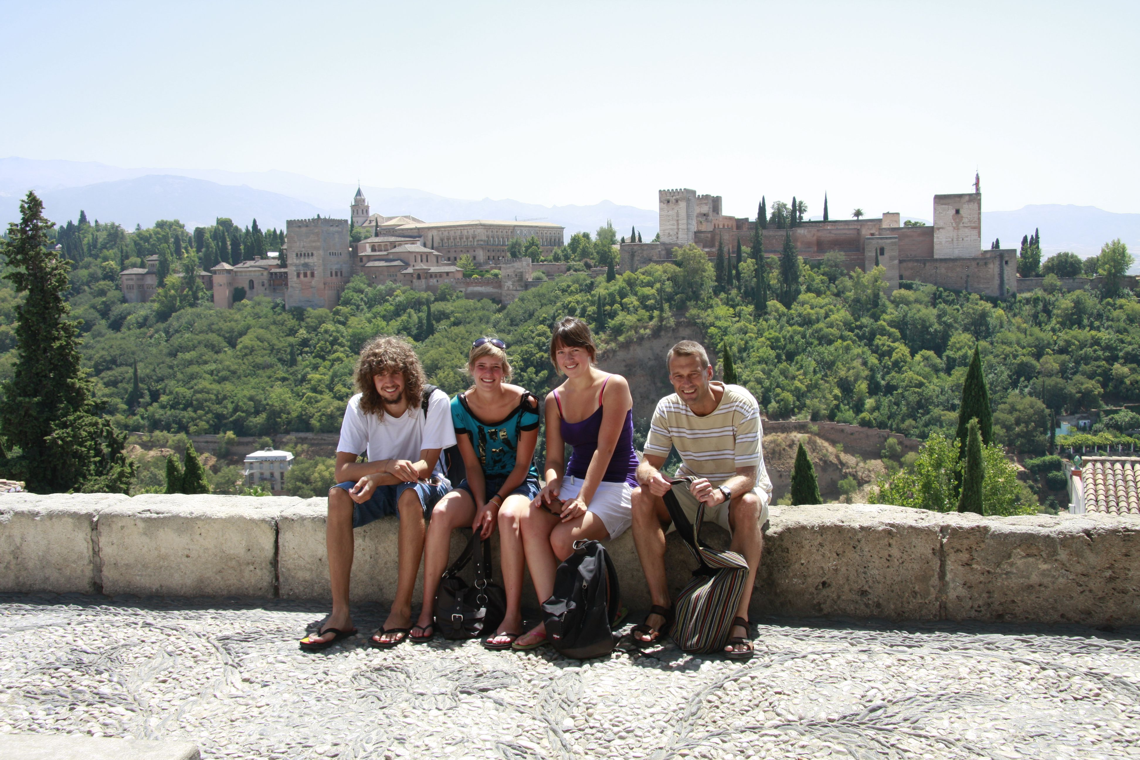 students touring in Spain