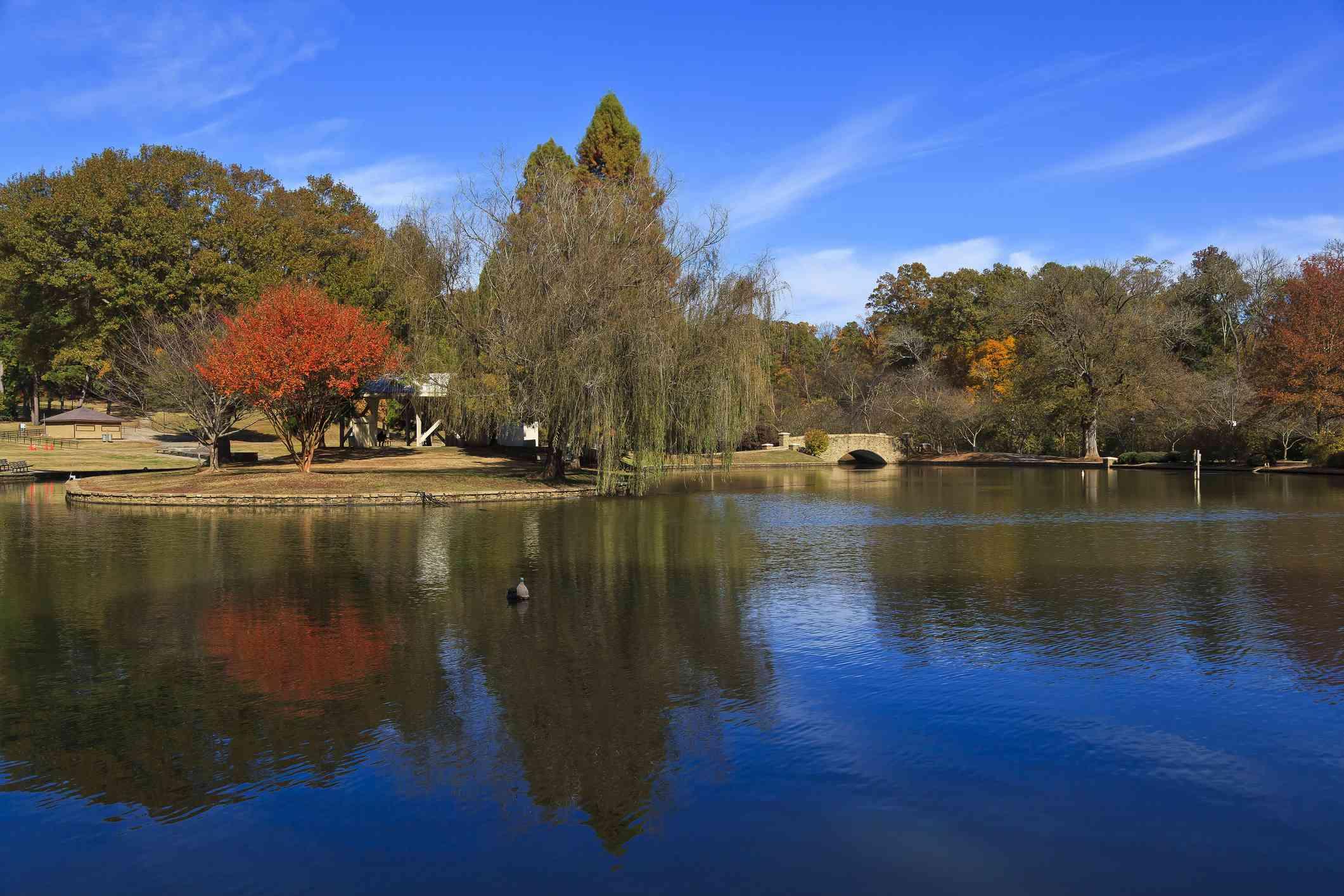 Freedom Park Lake in Charlotte, NC
