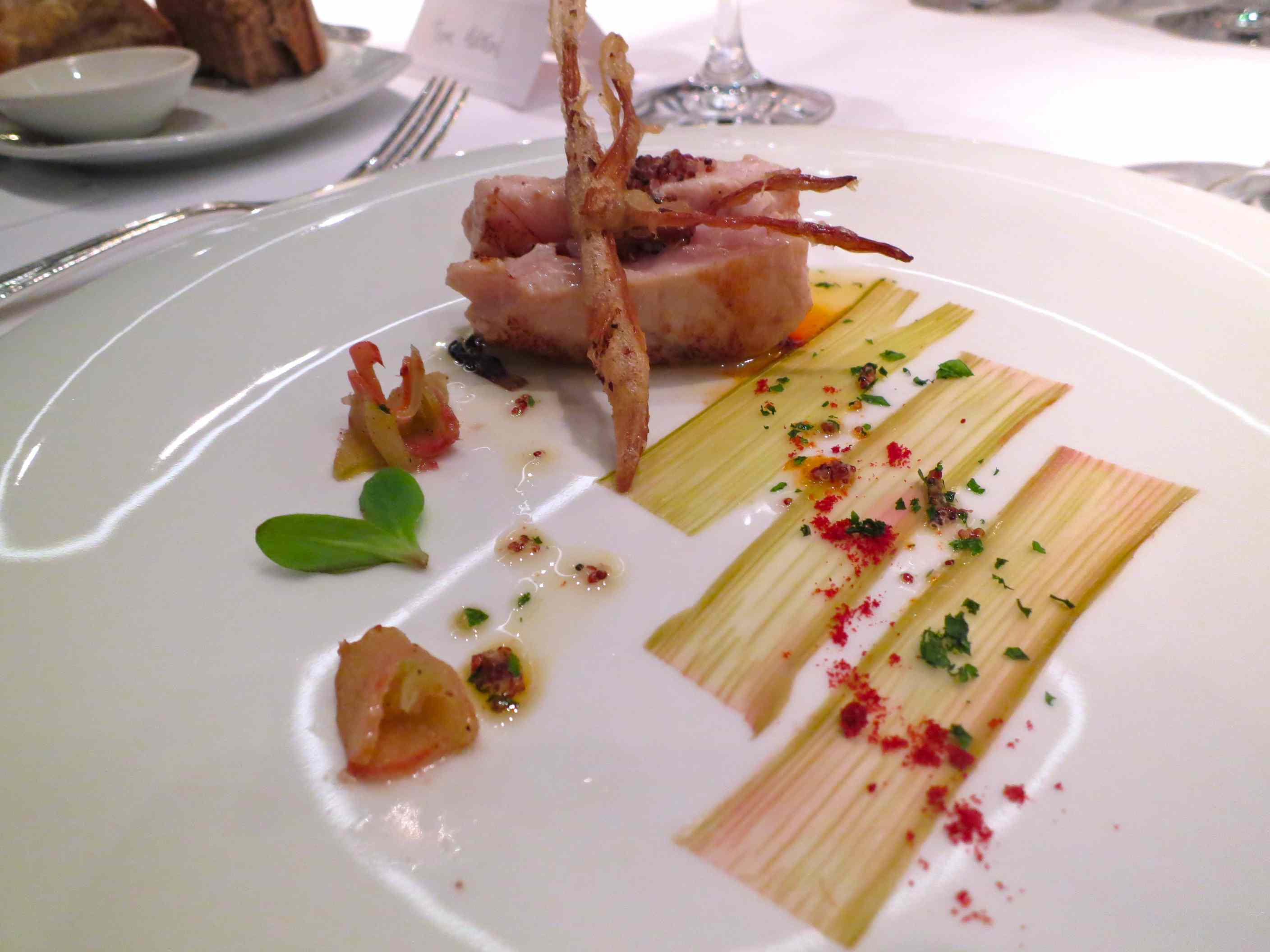 White Tuna with Rhubarb and Lillies at Restaurante Arzak