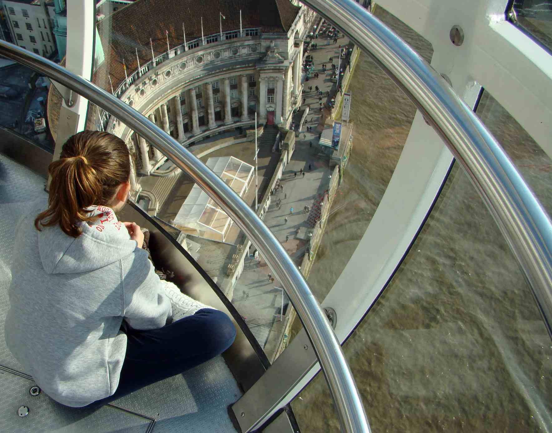 Kids in the london eye
