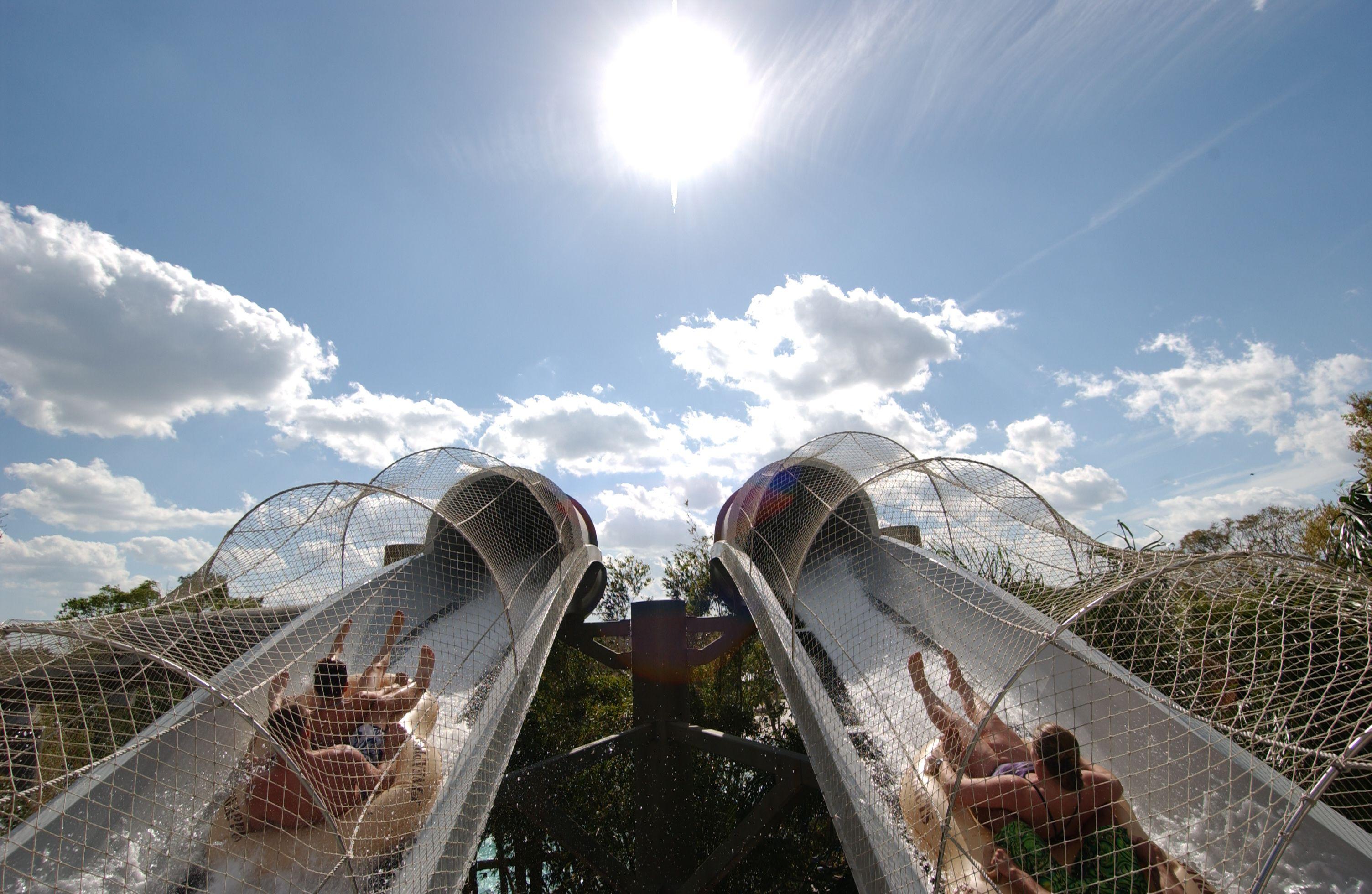The Crush 'n' Gusher raft slide