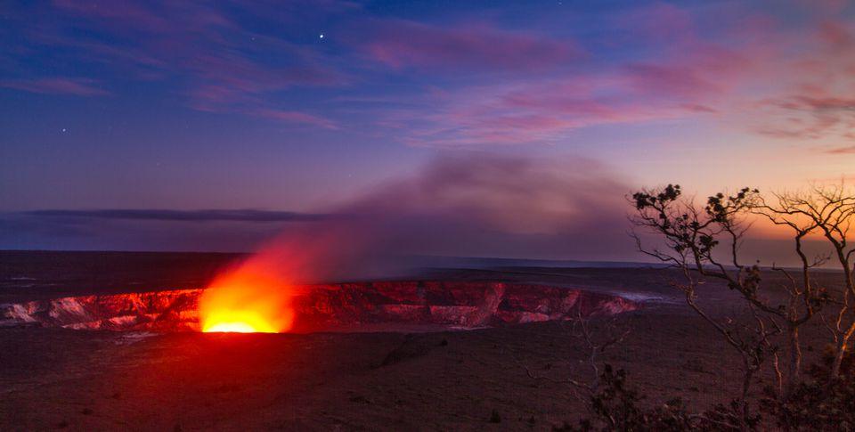 Caldero de Kilauea en el Parque Nacional de los Volcanes