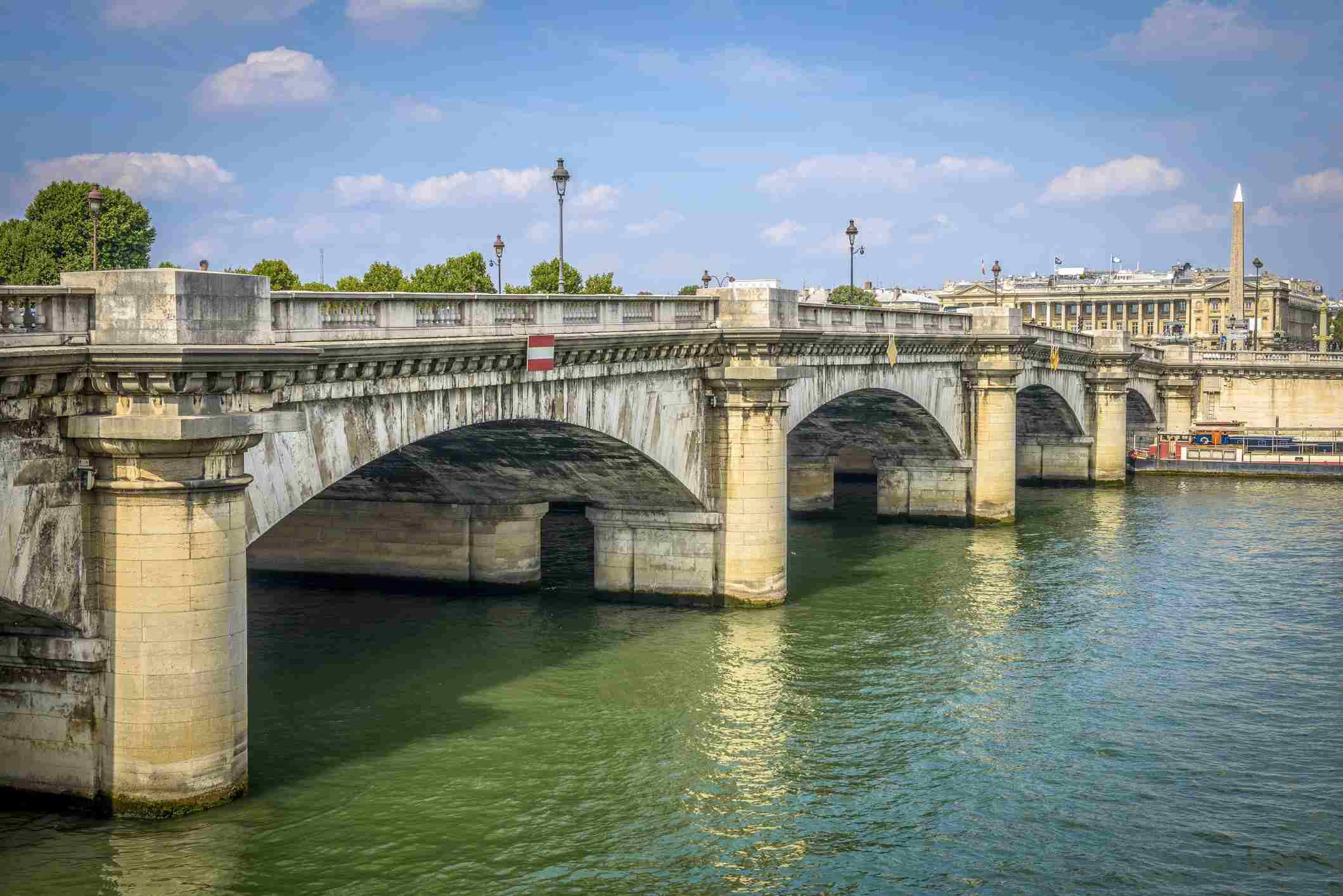The Pont de la Concorde in Paris, France