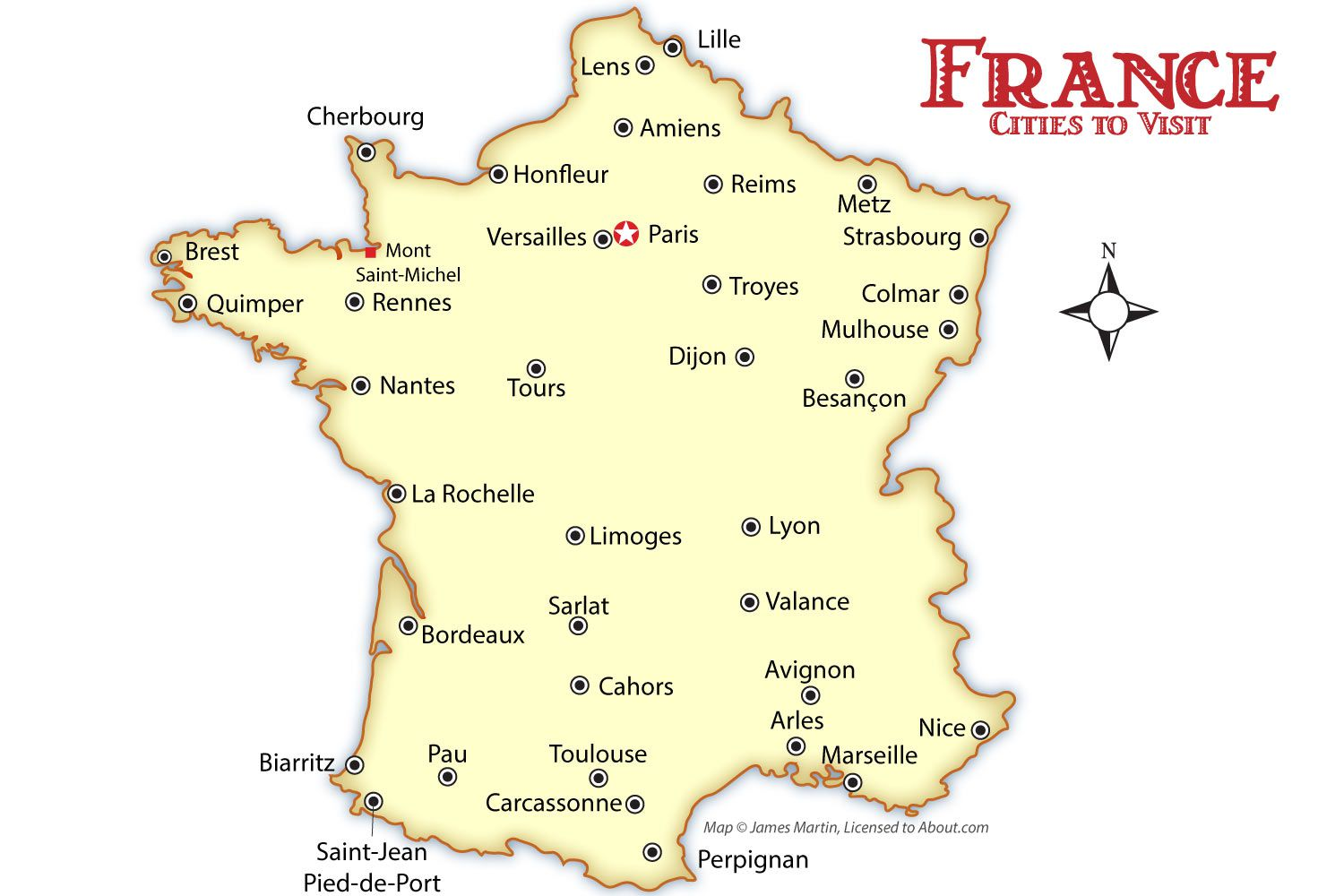 Map Of France Carcassonne.France Cities Map And Travel Guide