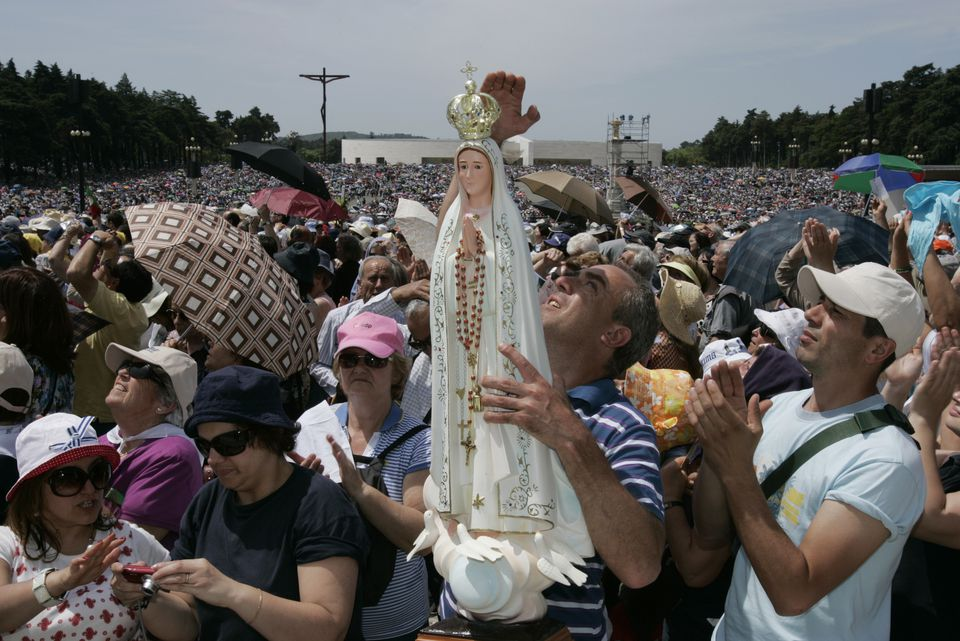 Pilgrims at Fatima Sanctuary
