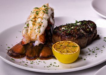 plate of surf and turf