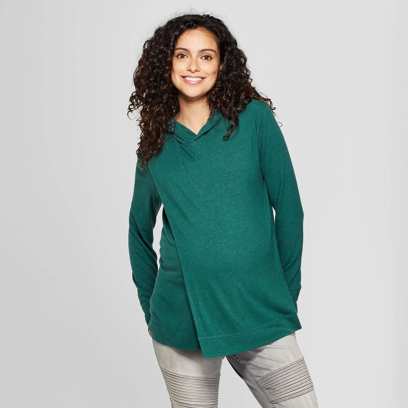 e530dcd849873 Long Sleeve Nursing Hooded Swing Sweatshirt by Ingrid & Isabel™. Courtesy  of Target