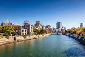 Hiroshima Cityscape on a Sunny Autumn Day.