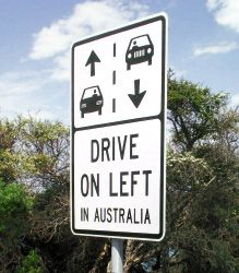 Australia Road Sign - Drive on Left