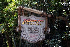 Indiana Jones Adventure Disneyland sign