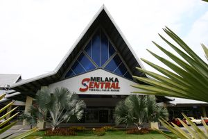 Entrance to Melaka Sentral Bus Terminal, Malacca, Malaysia.