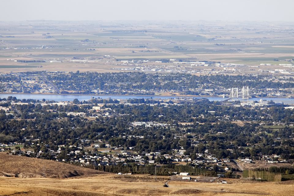 View of Pasco and Kennewick