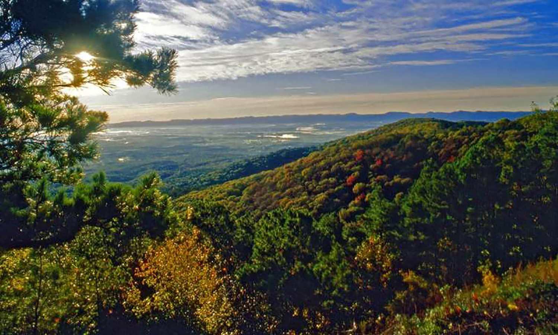 Views from Queen Wilhelmina State Park.